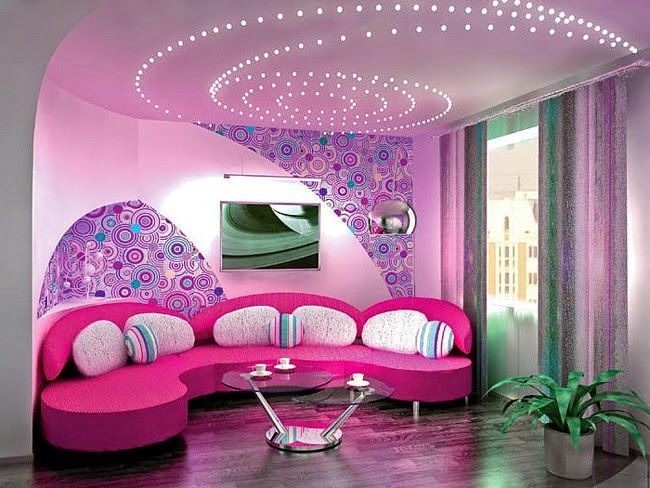 modern living room lighting ideas - creative stretch ceiling lights ...