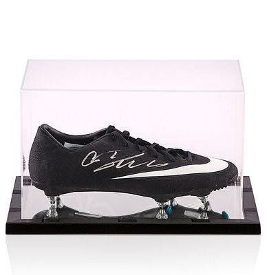 126a5bc1bec0 Cristiano Ronaldo Hand Signed Football Boot CR7 Black In Acrylic Display Case  Autographed Soccer Cleats     Learn more by visiting the image link.