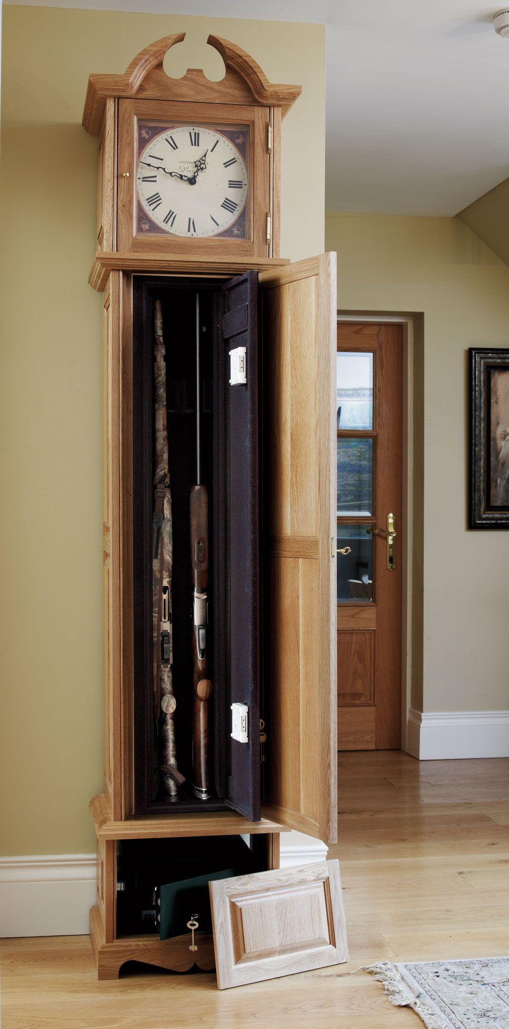 Grandfather clock gun safe i love hidden compartments for Cool hidden compartments