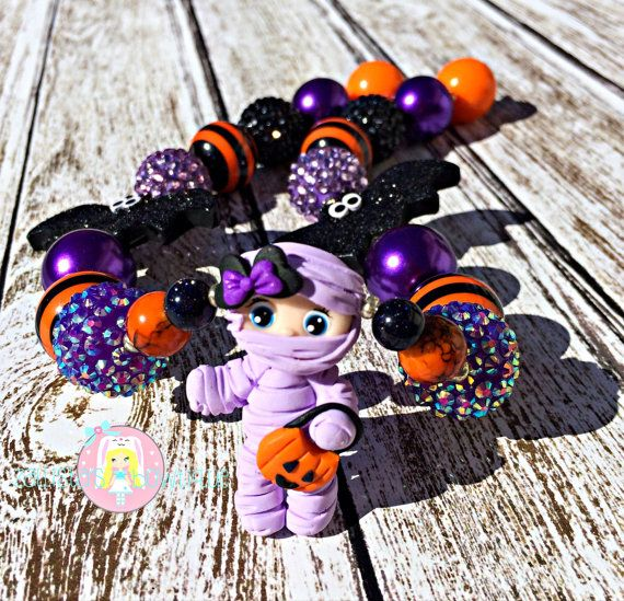 Mummy Necklace Ready to Ship by ZallistasBowtique on Etsy