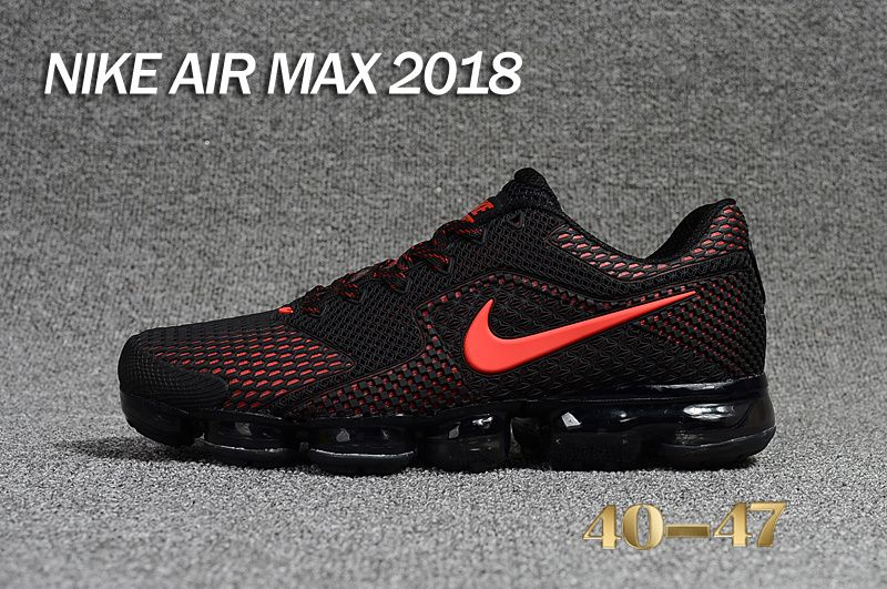nike air vapormax black red