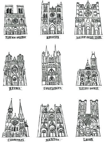 Gothic Cathedrals Cheat Sheet Art Handouts
