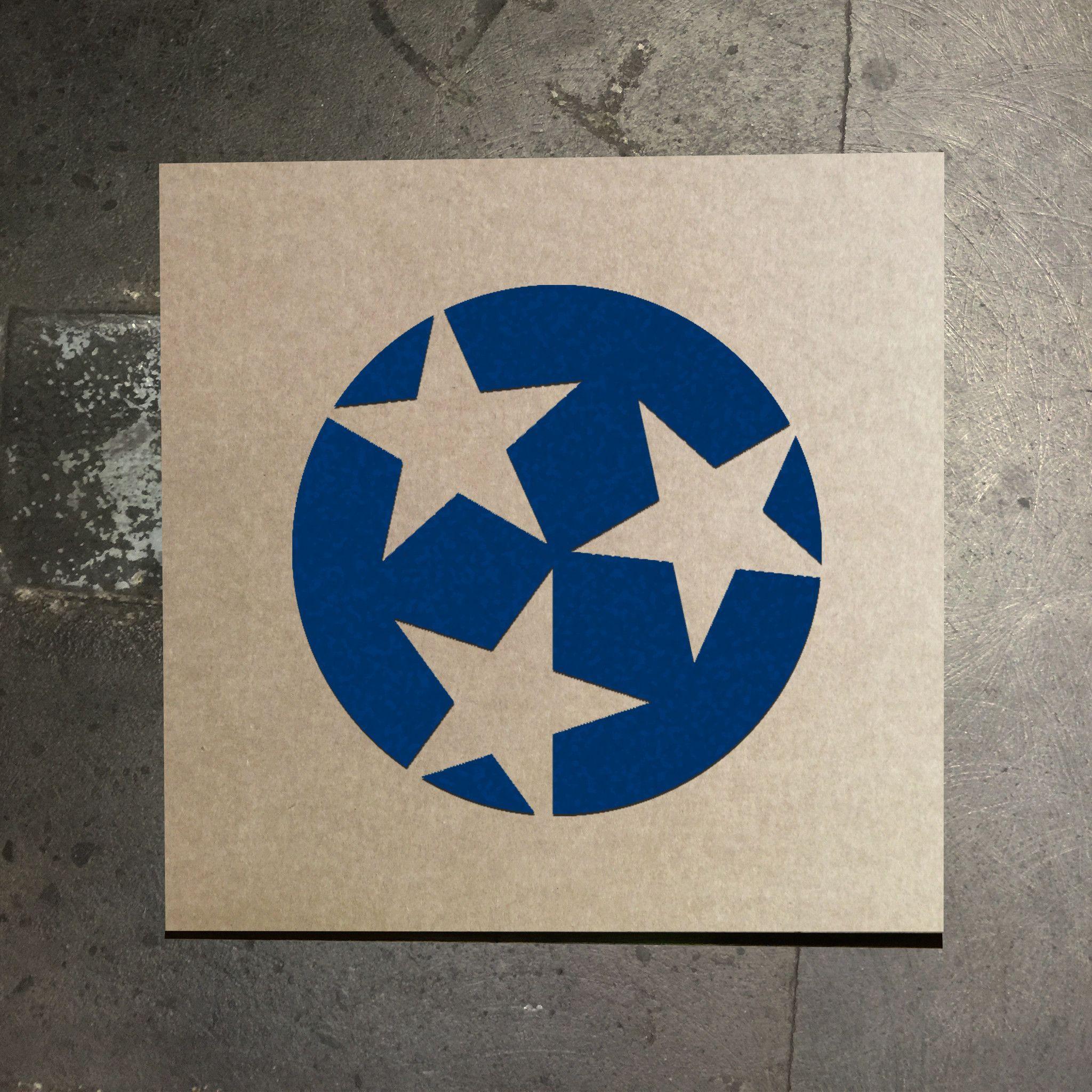 Tennessee Flag Three Star Stencil Dining Room Pinterest