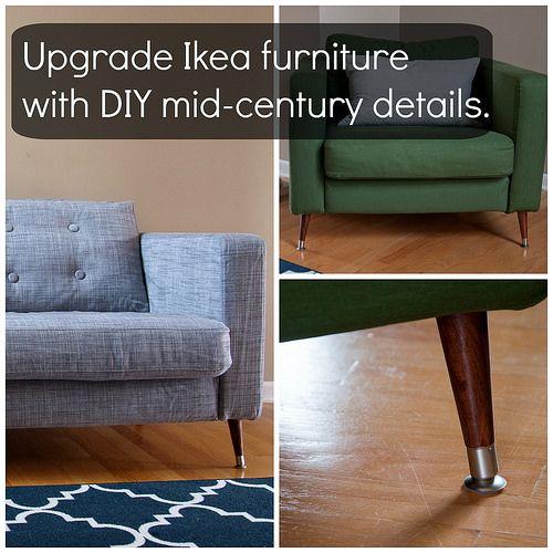 Ikea Karlstad Sofa Hack: Add Mid-century Details To Ikea Karlstad Furniture.