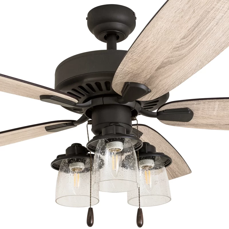 "52"" Starway 5 Blade Standard Ceiling Fan with Light Kit"
