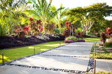 Tropical Main Entrance Landscape Design Ideas Pictures
