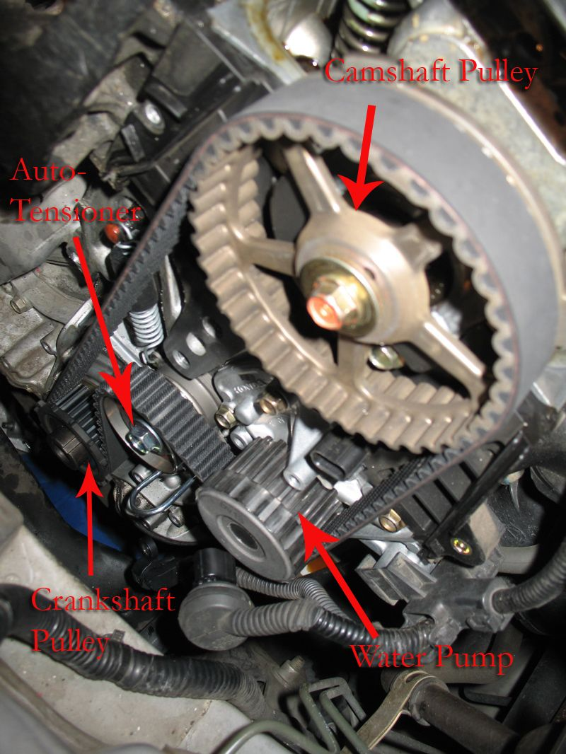 How to change the timing belt in a 7th gen honda civic for Honda civic timing belt replacement