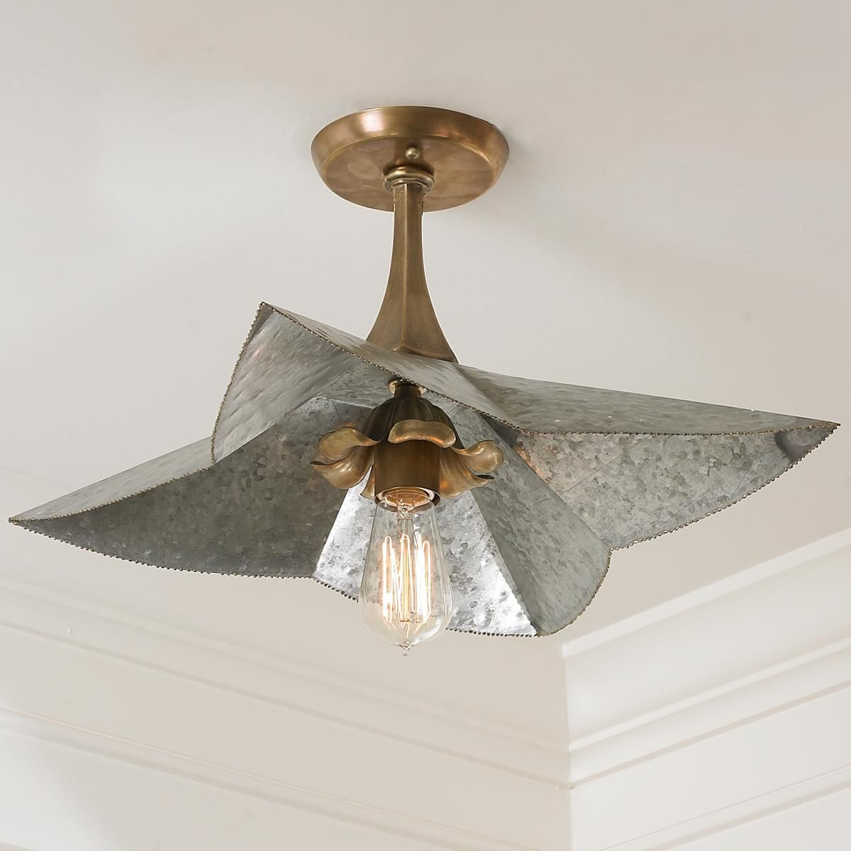 Galvanized Bloom Ceiling to Wall Sconce   kitchen   Pinterest ...