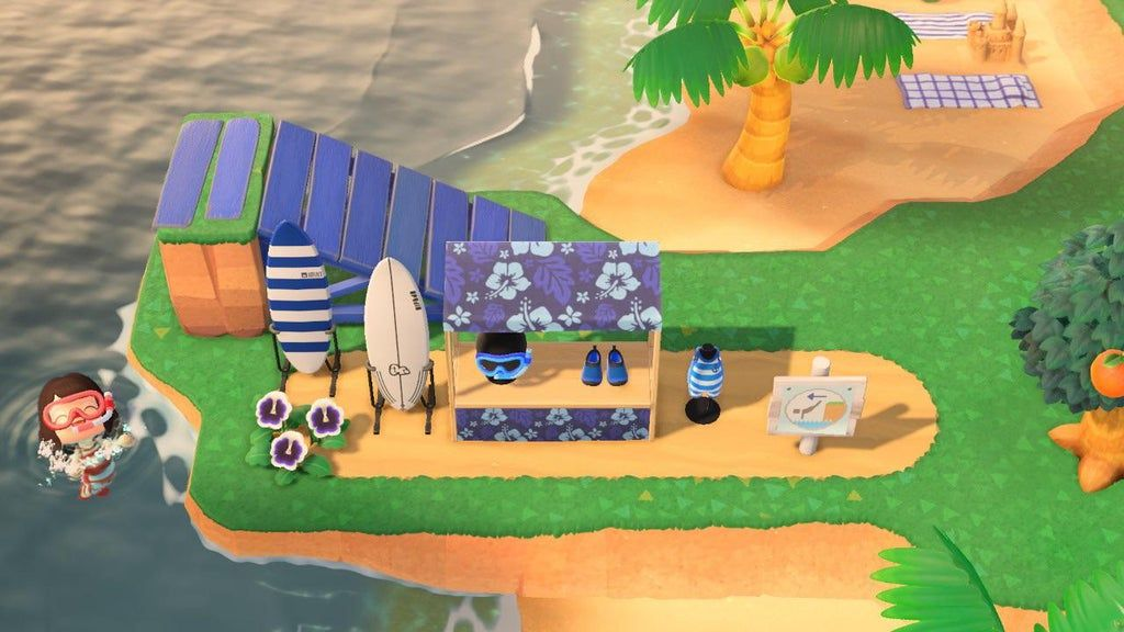 Here Is My Diving Swim Surf Area Animalcrossing In 2020 Animal Crossing Wild World New Animal Crossing Animal Crossing Game