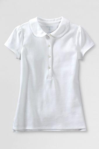 d35e9e9087bd Lands End: $15 on sale School Uniform Short Sleeve Knit Peter Pan Polo  Shirt from
