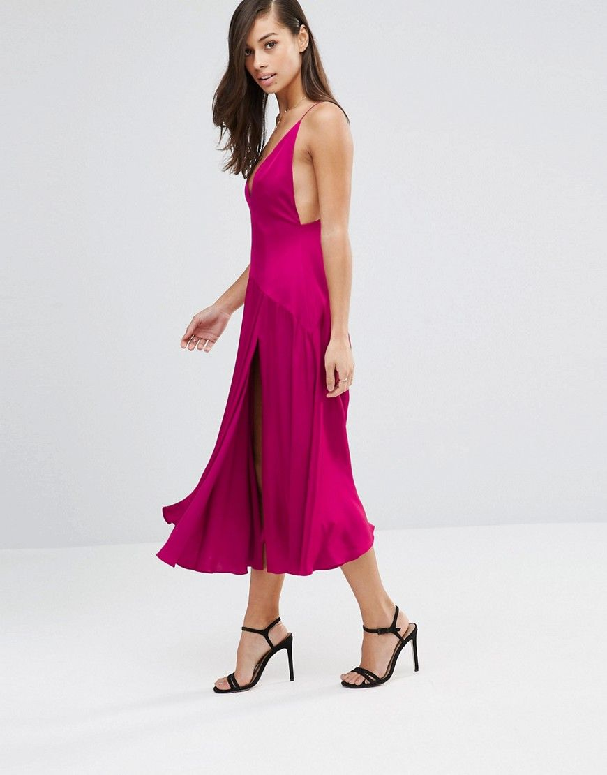 fdcf2bff96be Image 4 of ASOS PETITE Cami Panelled Midi Swing Dress