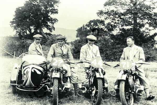 1933 International Six Day Trial - The winning German team ...