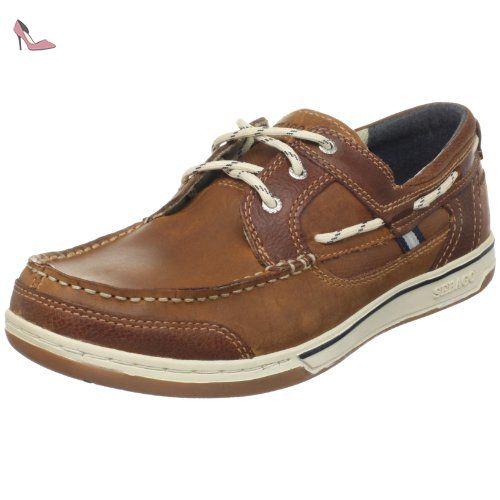 Sebago Spinnaker, Chaussures bateau homme - Noir/marron, 39.5 EU (6.5)