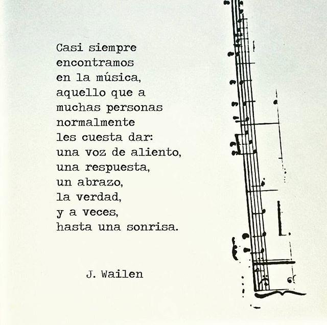 La musica te lleva a tu mundo, donde no tienes que fingir simplemente eres tu