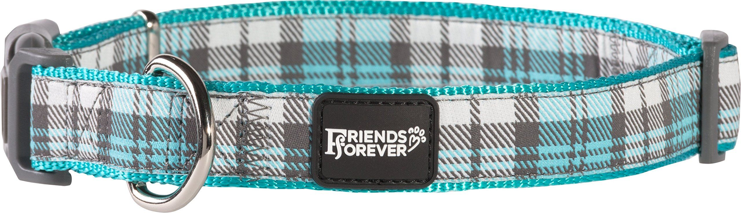 Friends forever plaid dog collar for dogs fashion woven