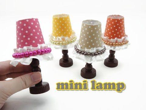 DIY Doll Accessories Mini Lamp - Easy - YouTube #cuteumbrellas