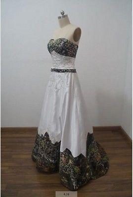 8f1fcc5e3f2fa 2017 A-Line Camo Wedding Dresses Formal Camouflage Embroidery Bridal Gown  Custom