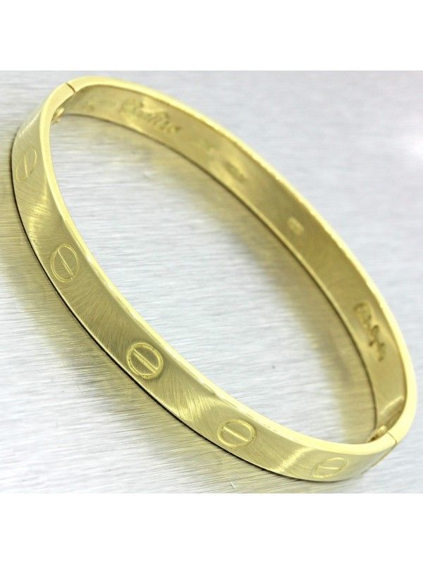 c0624aba3 Vintage Cartier Aldo Cipullo 18K Yellow Gold Love Bangle Bracelet w/Screw  Size16