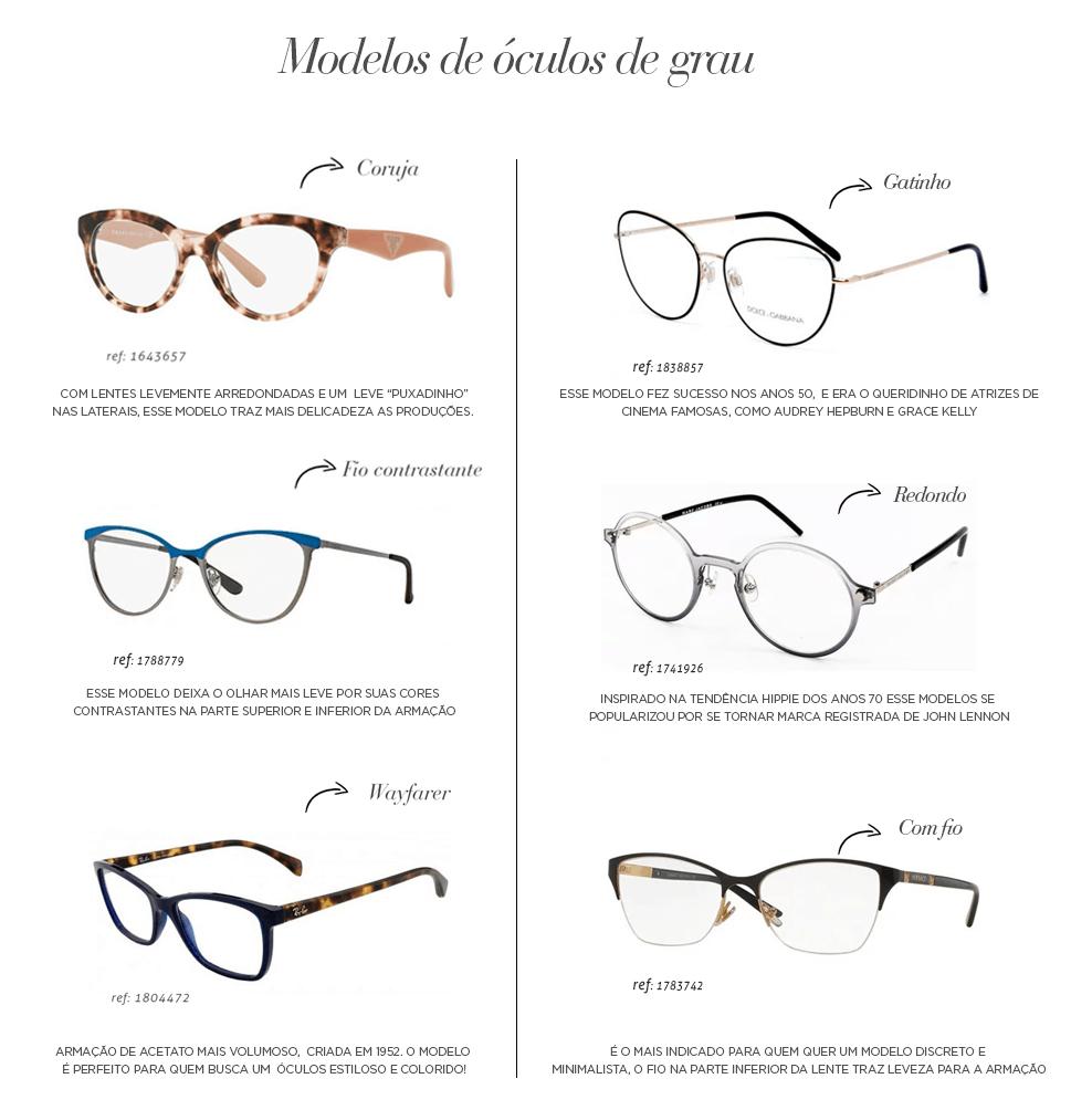 b5516a4c127af Óculos de grau  Armações Eye Line