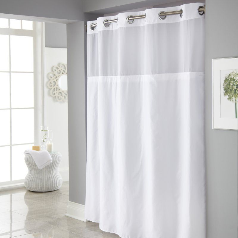 Hookless Mystery Shower Curtain With It S A Snap Peva Liner Shower
