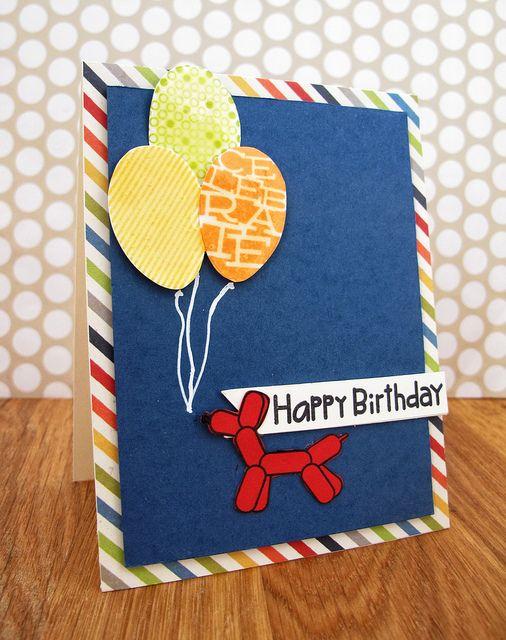Bdayballoons by Cards by Rachel @ www.seizethestamp.blogspot.com, via Flickr