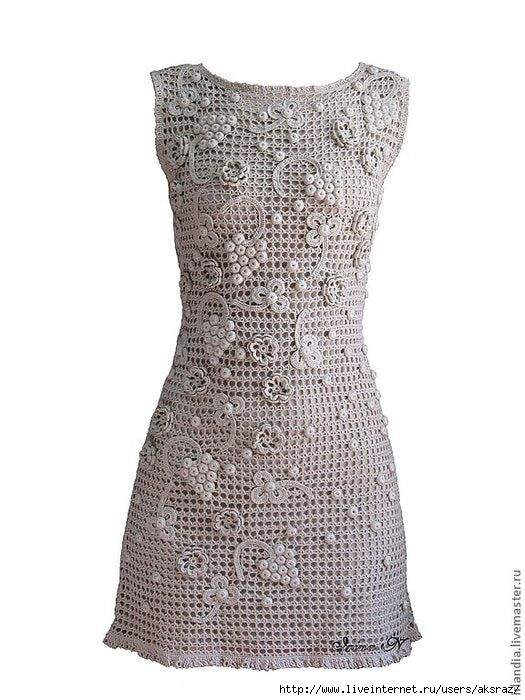 free pattern   crochet lace   Pinterest   Vestiditos, Ganchillo y Rusas
