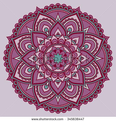 Vector color mandala mehndi style mandalas pinterest explore estilo mehndi vetor de fundo e muito mais stopboris Images