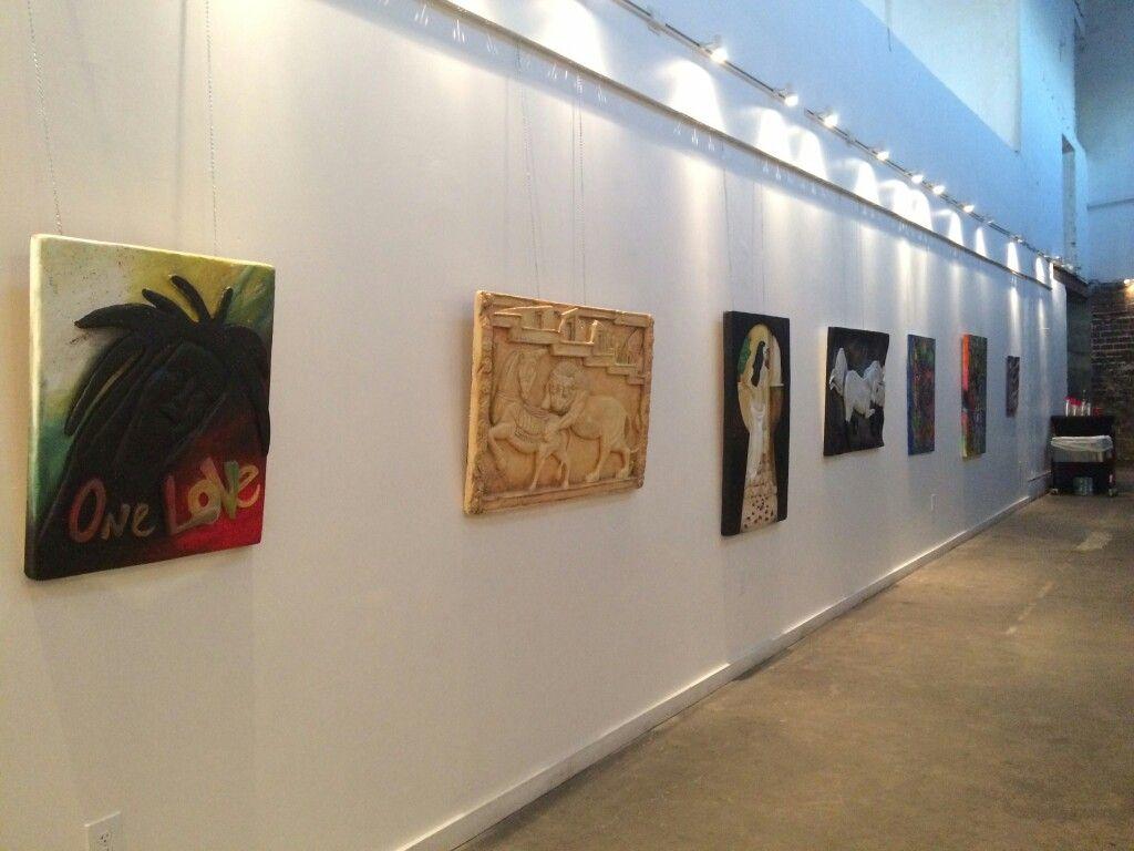 One Love exhibit coordinated by Markanthony Little of MA Art. #behindthebluedoors #yellowbrickrow #gallery #art #exhibit