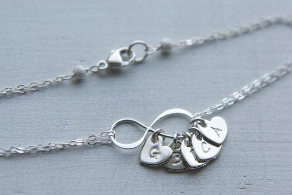Personalized Infinity Heart Initial Bracelet by UnmistakablyMine