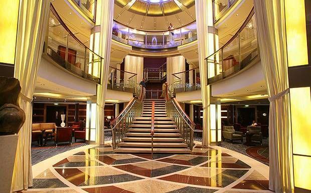 Celebrity Solstice Lobby Elegant Contemporary Decor