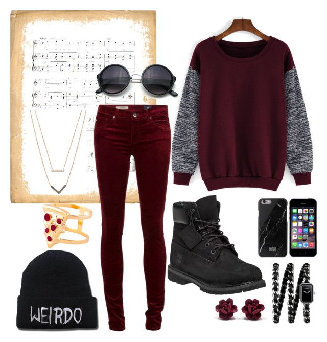 """""""Skya"""" by luke-is-nolonger-a-baeguin ❤ liked on Polyvore featuring Timberland, Glenda López, Michael Kors, Chanel, women's clothing, women, female, woman, misses and juniors"""