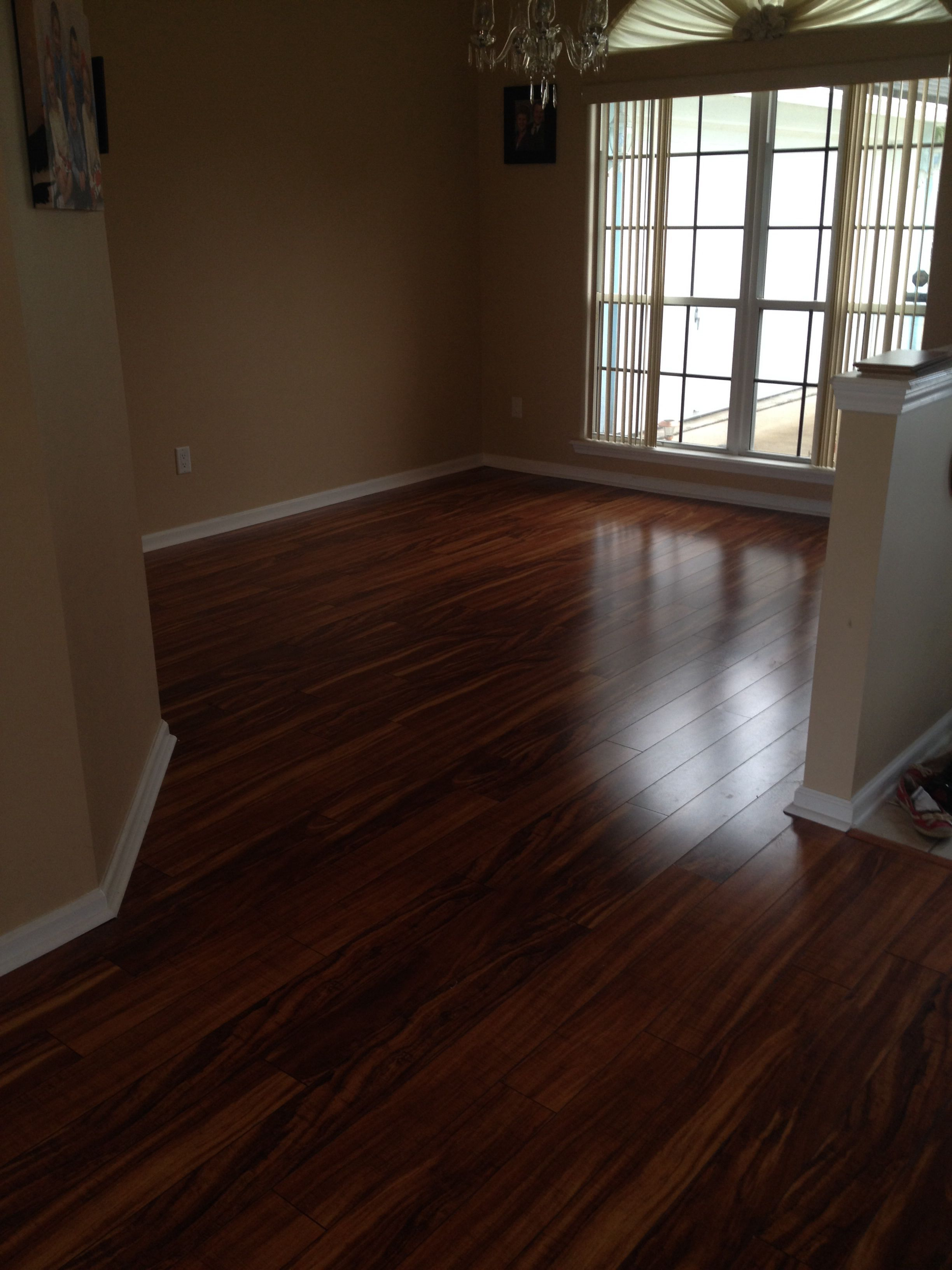 Dining Room Pergo Xp In Hawaiian Curly Koa Pergo