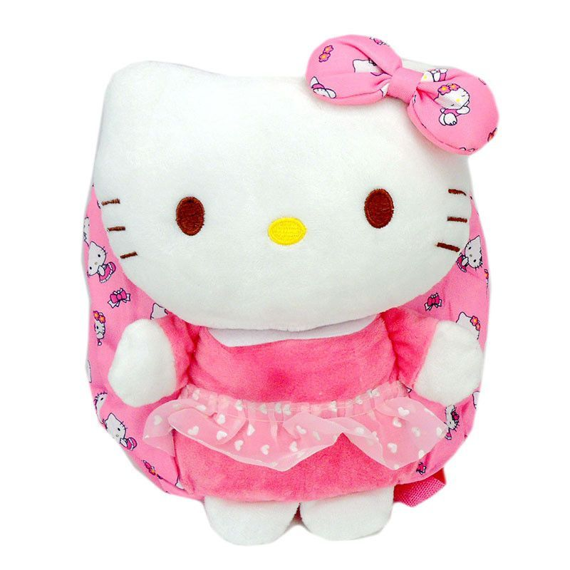 922828b67b1 ... Girls Boys Cute  Hello Kitty school bag Cute children Hello Kitty  backpack for packing toy candy Many colors Plush  Classic Dot ...
