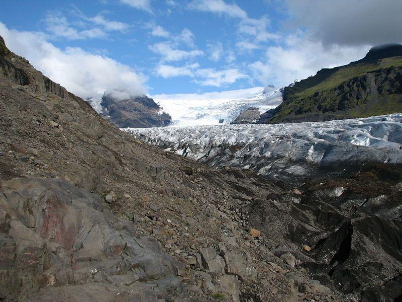 Nederlands: Svínafellsjökull, glacier, Iceland Original uploader was Bromr