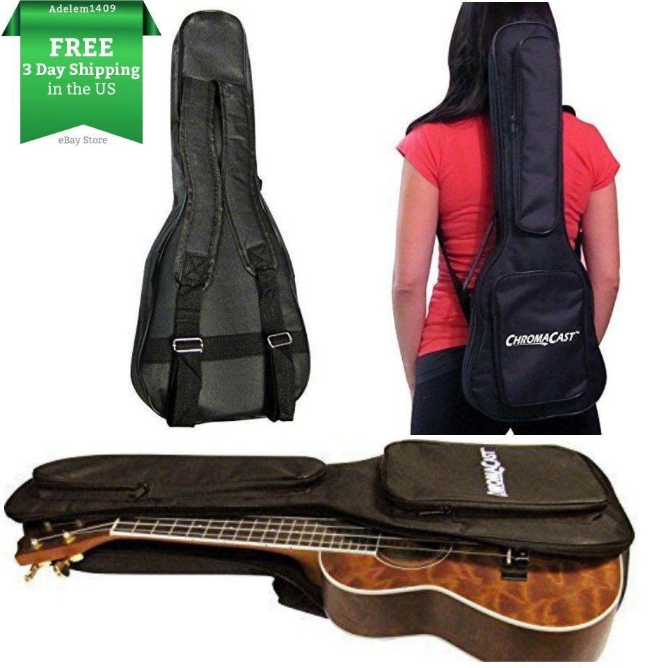 New 24 Inch Deluxe Ukulele Case Soprano Padded Bag Uke 4 Strings Portable Case Chromacast Cases Pad Bag Ukulele Case Soprano Ukulele Case