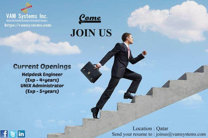 Wanted 1 Helpdesk Engineer 2 UNIX Administrator Location - Qatar - unix engineer resume