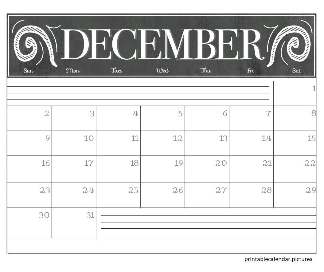 December 2018 Blank Calendar December 2018 Blank Calendar Blank