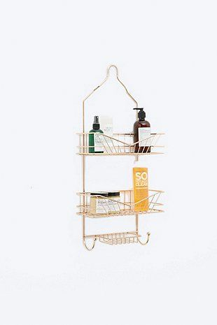 Three Tier Shower Caddy In Rose Gold Duschregal Dusche Regal