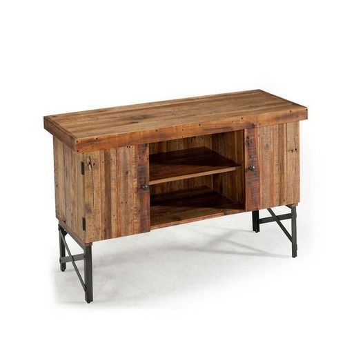 Reclaimed Wood Rustic Primitive Sofa Console Table Buffet