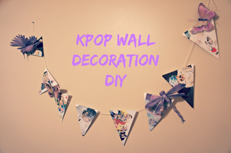 Kpop Wall Decoration DIY | diys i want to try | Pinterest | Kpop diy ...
