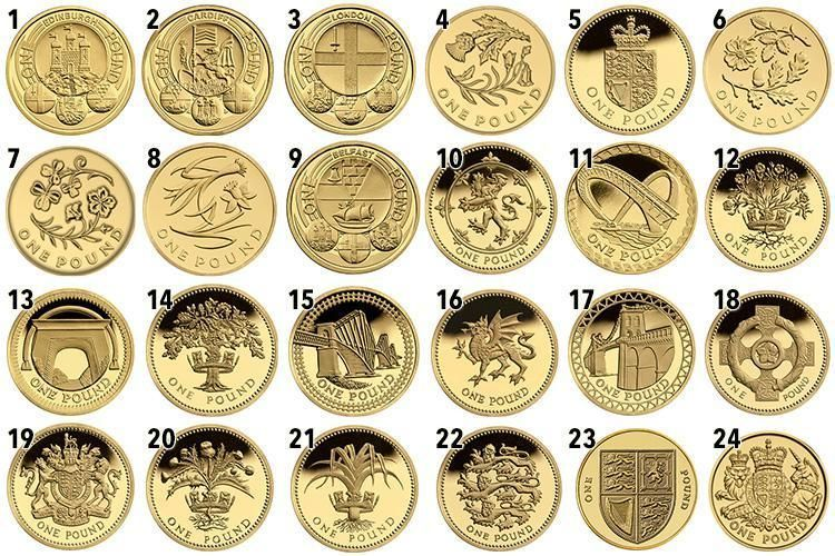 If You Ve Got A Stash Of Old 1 Coins Then Could Be Sitting On Small Fortune There Are Curly 24 Diffe Coin Designs In Circulation And With