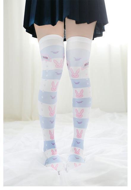a8178d402 Overwatch DVA Thigh High Stockings