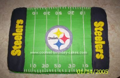 Coolest Steelers Cake Giant cake Super bowl party and Homemade