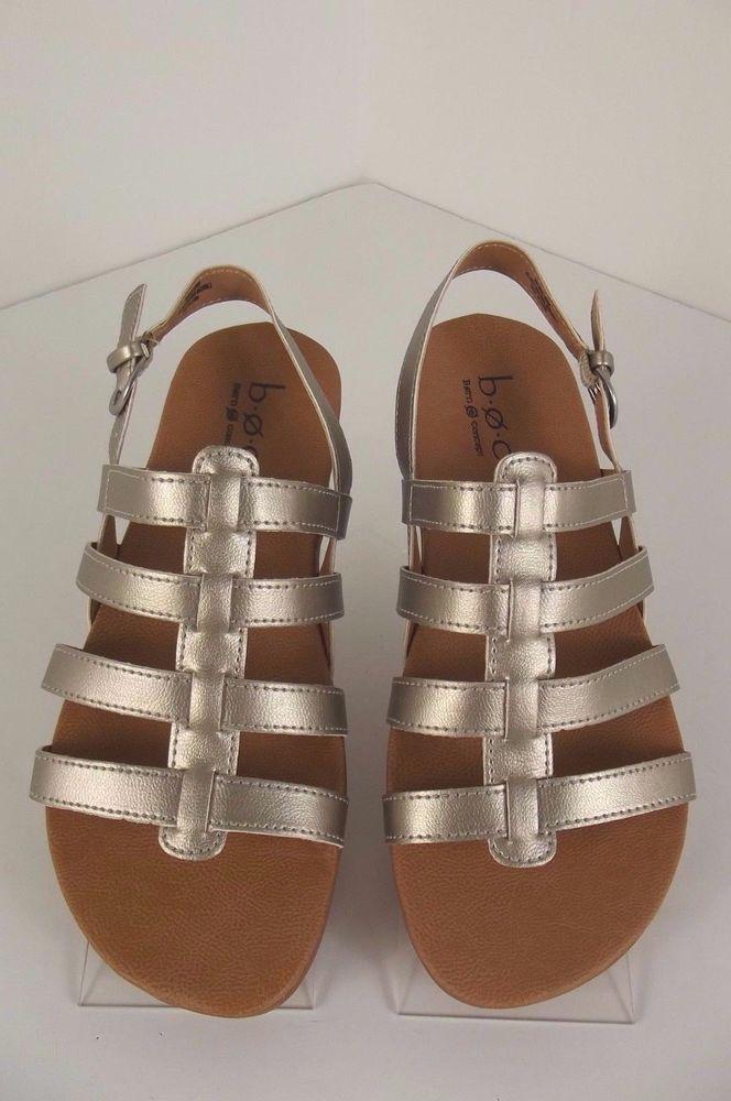 e14e896c4304 NEW B.O.C.by Born Sandals Women s Size 8 M Shoes Metallic Leather Slingback   Born  Slingbacks  Casual