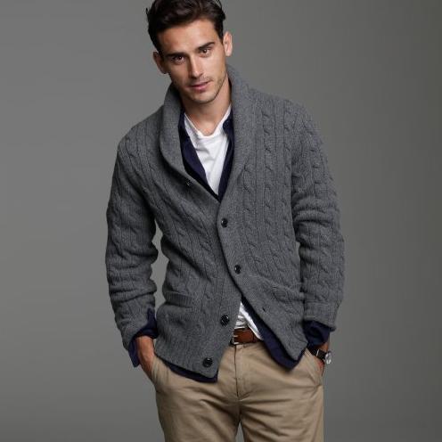 Brooks Brothers shawl-collar cardigan sweater | Celebrity Designer ...