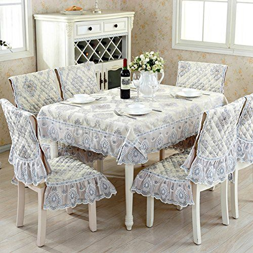 European Fabric Table Cloth,Chair Covers Cushions Set,Round Table  Tablecloth Tea Table Pad