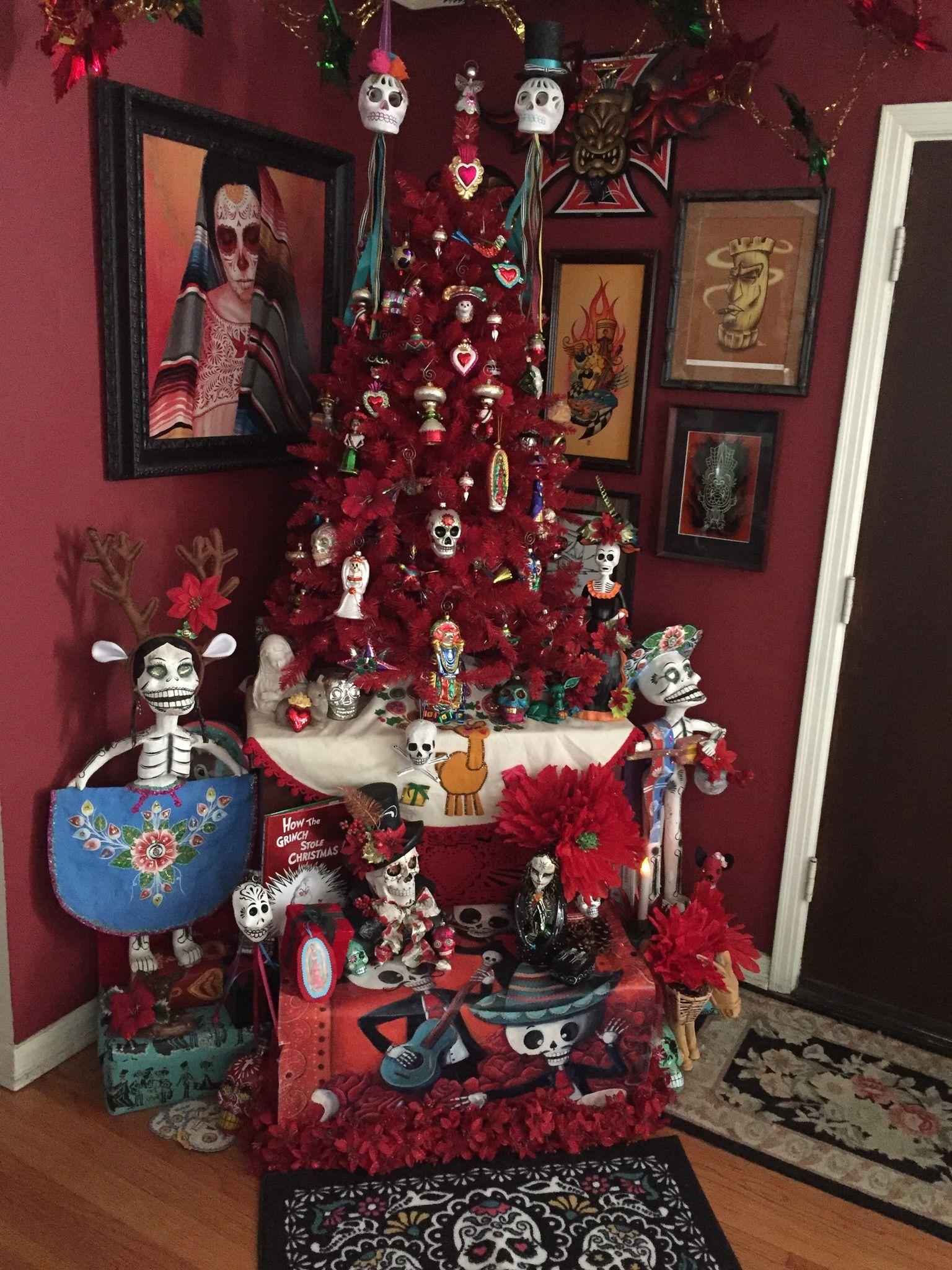 Dia de los muertos christmas tree 2016 halloween diy
