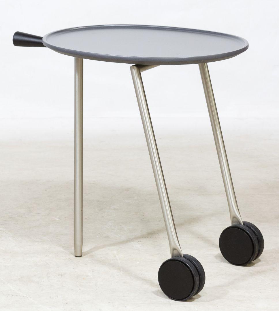 Lot 77 Rolling Table By Antonio Citterio For B B Italia Having A Tripod Base With Two Wheels Push Handle And Oval Rolling Table B B Italia Antonio Citterio [ jpg ]