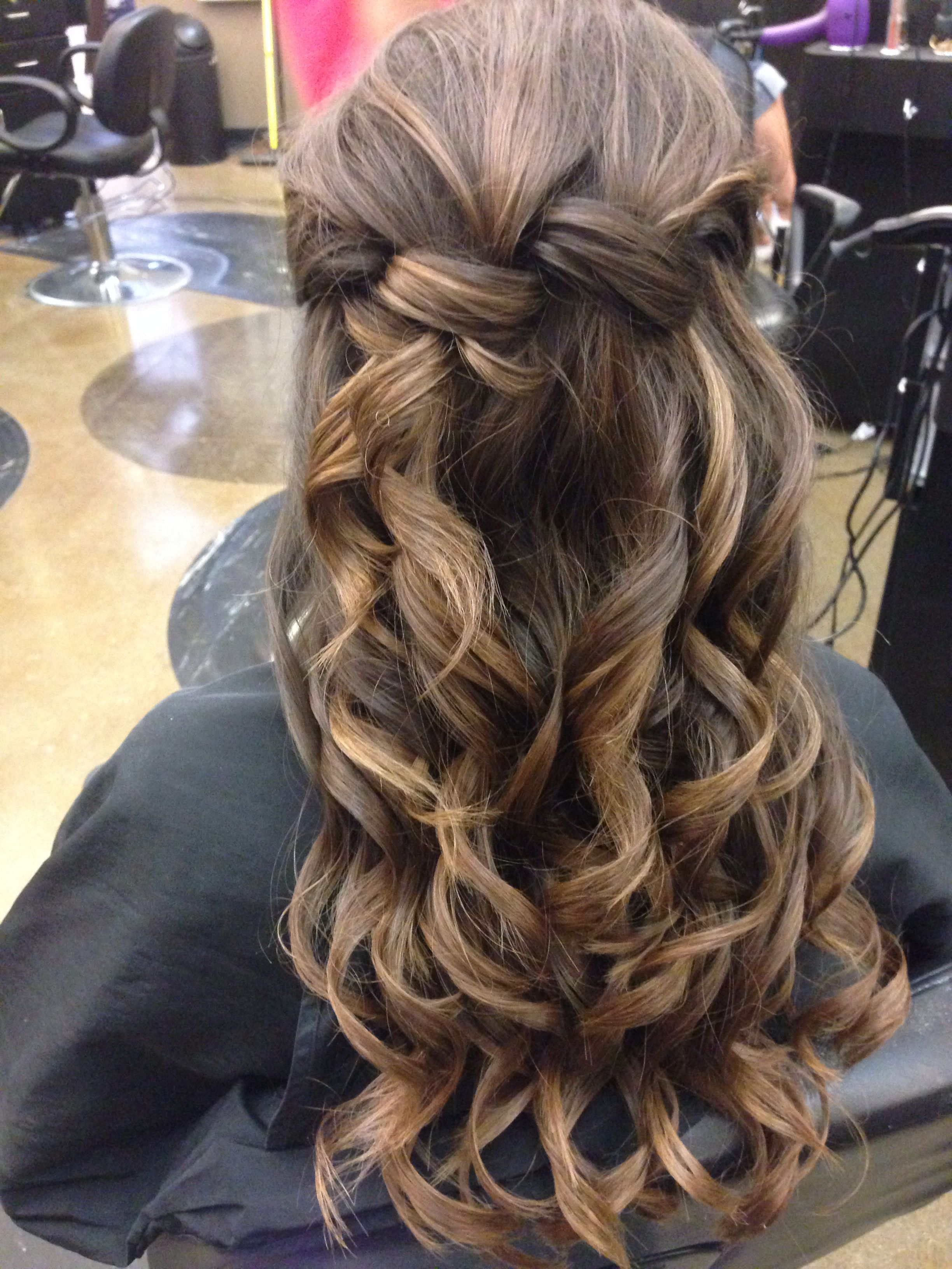 Curly half up twisted style Hair Hairstyles and more