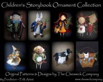 Alice in Wonderland Ornaments PATTERN PACKET by cheswickcompany